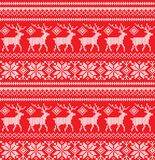Winter festive Christmas knitted pattern woolen knitted Royalty Free Stock Photography