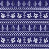 Winter festive Christmas knitted pattern woolen knitted Royalty Free Stock Photos