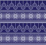 Winter festive Christmas knitted pattern woolen knitted Royalty Free Stock Image