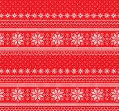 Winter festive Christmas knitted pattern woolen knitted. 2018 Stock Image