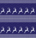 Winter festive Christmas knitted pattern woolen knitted. 2018 Royalty Free Stock Photography