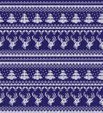 Winter festive Christmas knitted pattern woolen knitted. 2018 Royalty Free Stock Photo