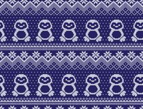 Winter festive Christmas knitted pattern woolen knitted. 2018 Royalty Free Stock Image