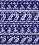 Winter festive Christmas knitted pattern woolen knitted. 2018 Stock Photo