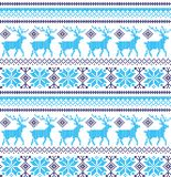 Winter festive Christmas knitted pattern woolen knitted Royalty Free Stock Photo