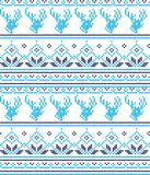 Winter festive Christmas knitted pattern woolen knitted Royalty Free Stock Images