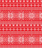 Winter festive Christmas knitted pattern woolen knitted. 2018 Stock Photography