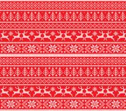 Winter festive Christmas knitted pattern woolen knitted. 2018 Stock Images