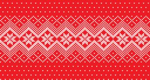 Winter festive Christmas knitted pattern woolen knitted. 2018 Royalty Free Stock Photos