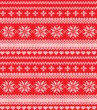 Winter festive Christmas knitted pattern woolen knitted. 2018 Stock Photos