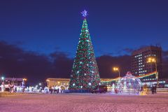 Free Winter Festive Decorations Of The City Before The New Year Royalty Free Stock Image - 132671546