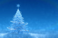 Winter Festive Design. Christmas / New Year`s 3D rendered graphic composition Royalty Free Stock Photography