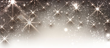 Winter festive luminous banner. Winter festive luminous banner with snow. Vector illustration Royalty Free Stock Photography