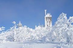 Winter on the Fichtelberg Stock Photography