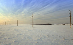 Winter field , power Royalty Free Stock Photo