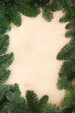 Winter Fir Leaf Border Royalty Free Stock Image