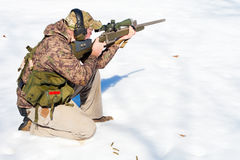 Winter Firearm Sport Stock Images