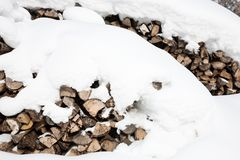 Winter firewood Royalty Free Stock Image