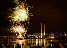 Free Winter Fireworks Royalty Free Stock Photo - 76411225