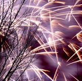 Winter Fireworks In Edmonton Stock Photos