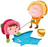 Winter fishing stock illustration