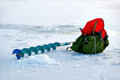 Winter fishing Royalty Free Stock Photography