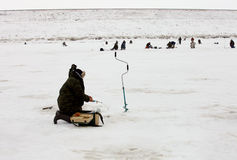 Winter fishing Royalty Free Stock Image
