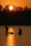 Winter fishing Stock Photo