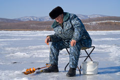 Winter fishing 68 Stock Photo