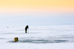 Winter fishing Royalty Free Stock Photo
