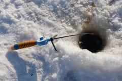 Winter fishing rod Royalty Free Stock Photos