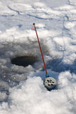 Winter fishing rod Stock Image