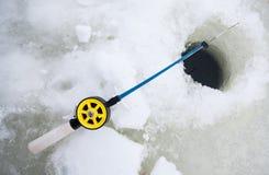 Winter fishing rod Royalty Free Stock Photo