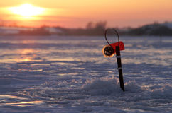 Winter fishing Royalty Free Stock Photos