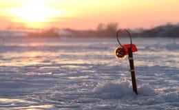 Winter fishing Royalty Free Stock Photo