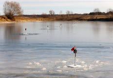 Winter fishing Stock Photo