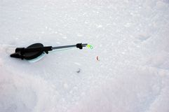 Winter fishing tackle Royalty Free Stock Photography