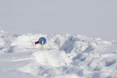 Winter fishing tackle Royalty Free Stock Image
