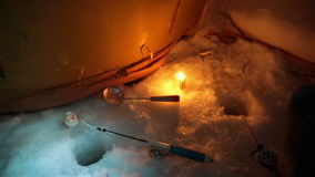 On winter fishing stock footage