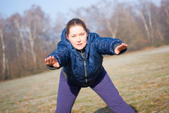 Winter fitness Stock Photos
