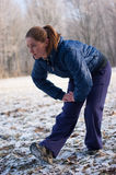Winter fitness Stock Photo