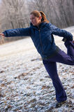 Winter fitness Royalty Free Stock Images