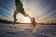 Winter fitness Royalty Free Stock Photo