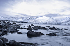 Winter fjords landscape, captured in northern Norway Stock Photography