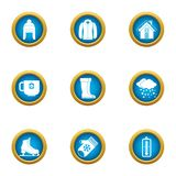 Winter flavour icons set, flat style. Winter flavour icons set. Flat set of 9 winter flavour vector icons for web isolated on white background vector illustration