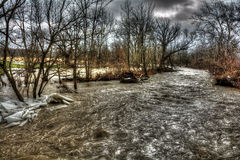 Winter Flood Royalty Free Stock Images