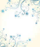 Winter floral background Royalty Free Stock Photography