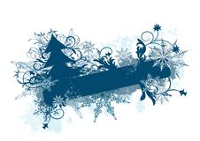 Winter floral background,  Royalty Free Stock Image