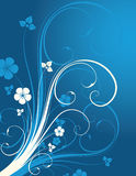 Winter floral background. With place for text Royalty Free Illustration