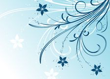 Winter floral background, vector Royalty Free Stock Image